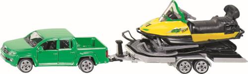 SIKU 2548 SUPER - PKW mit Anhänger und Snowmobil, 1:55, ab 3 Jahre