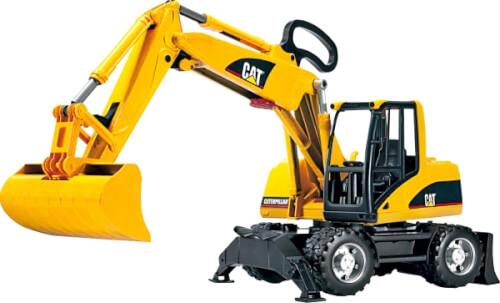 Bruder 02445 CAT Mobilbagger, ab 4-8 Jahren, Maße: 44 x 17 x 27 cm, Kunststoff