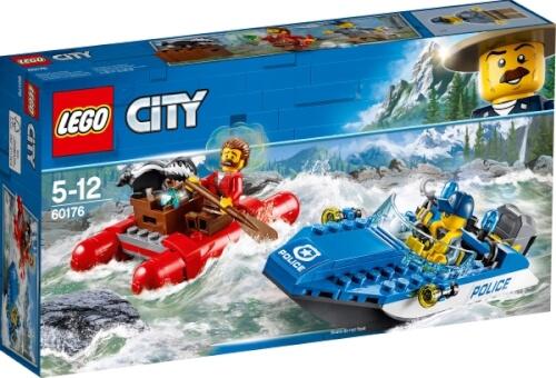 LEGO® City 60176 Gebirgspolizei Flucht durch die Stromschnellen, 126 Teile, ab 5 Jahre