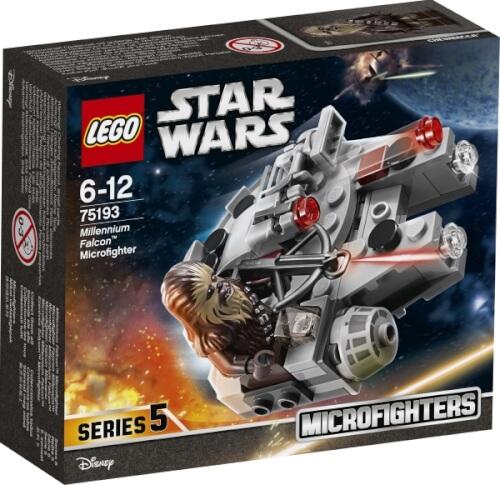 LEGO® Star Wars 75193 Microfighter Millennium Falcon, 92 Teile, ab 6 Jahre