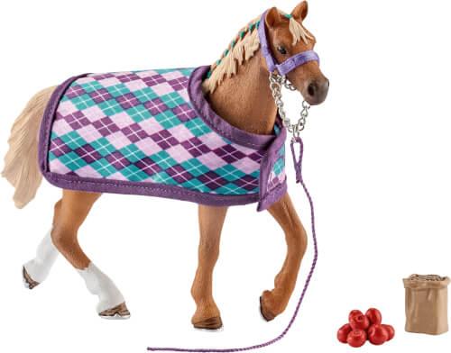 Schleich Horse Club - 42360 Englisches Vollblut mit Decke, ab 3 Jahre