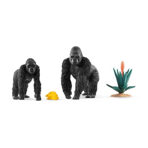 Schleich Wild Life 42382 Gorillas auf Futtersuche