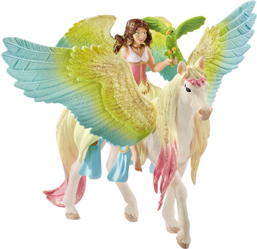 Schleich Bayala - 70566 Surah mit Glitzer-Pegasus, ab 5 Jahre
