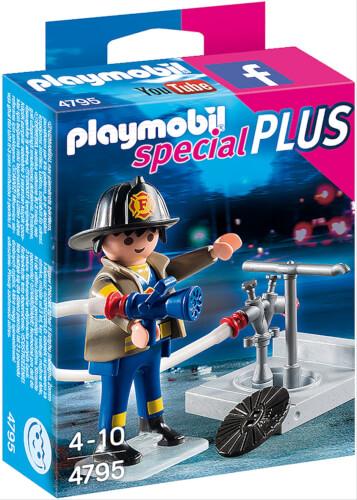 Playmobil 4795 Feuerwehrmann mit Hydrant