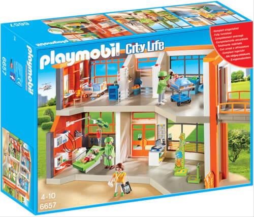 Playmobil 6657 Kinderklinik mit Einrichtung, ca. 13x52x39, ab 4 Jahren