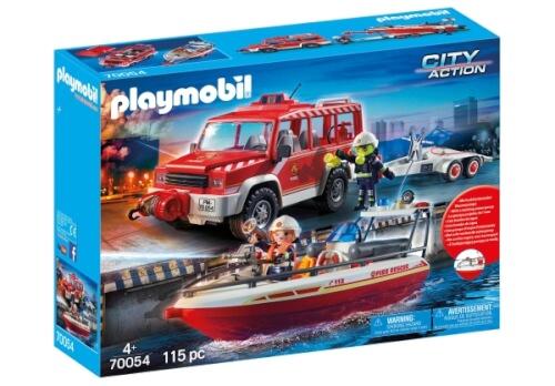 Playmobil 70054 Feuerwehrfahrzeug Mit Löschboot 70054