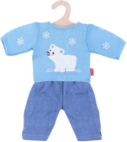 Heless Puppen-Pullover mit Jeans, Größe 28 - 33 cm