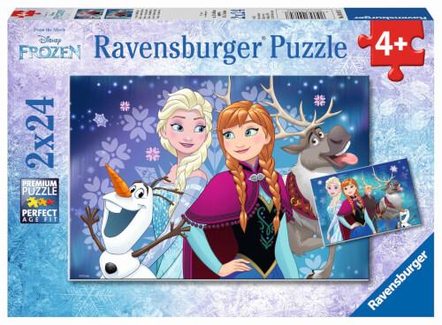 Ravensburger 09074 Puzzle Disney Frozen - Die Eiskönigin Nordlichter, 2 x 24 Teile