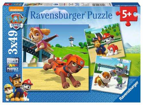 Ravensburger 09239 Puzzle Paw Patrol Team auf 4 Pfoten 3x49 Teile