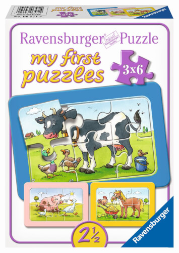 Ravensburger 06571 My first Puzzle Gute Tierfreunde 3 x 6 Teile