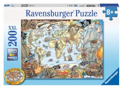 Ravensburger 128020  Puzzle Piratenkarte 200 Teile