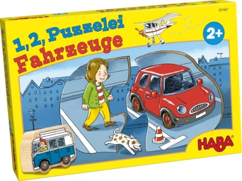 HABA 1, 2, Puzzelei  Fahrzeuge