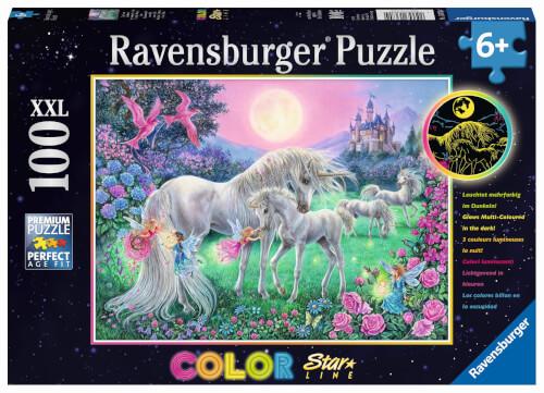 Ravensburger 13670 Puzzle Einhörner im Mondschein 100 Teile