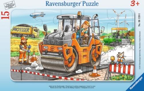 Ravensburger 061396 Puzzle: Baustellenszene  15 Teile