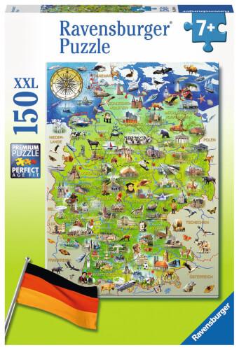 Ravensburger 10049 Puzzle: Meine Deutschlandkarte 150 Teile
