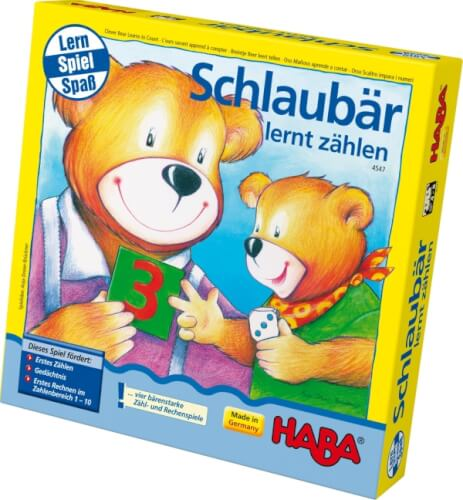 HABA - Schlaubär lernt zählen, für 2-5 Spieler, ca. 15 min, ab 4 Jahren