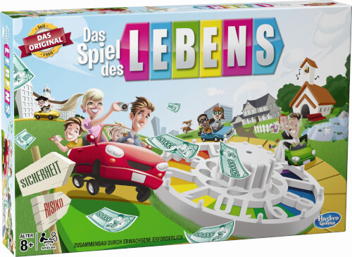 Hasbro 14529594 Das Spiel des Lebens, für 2-4 Spieler, ab 8 Jahren