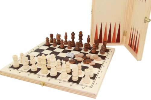 Longfield Schach/Dame/Backgammon Kassette