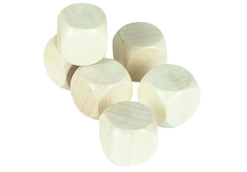 Würfel Holz Blanko 20 mm in der Dose