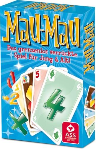 ASS Kartenspiel Mau-Mau, 55 Karten, ab 2 Spieler, ab 6 Jahre