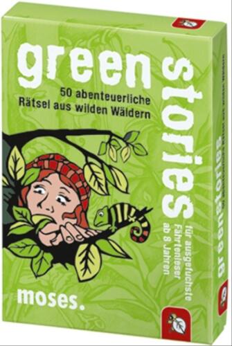 moses black stories Junior - green stories - 50 abenteuerliche Rätsel aus wild