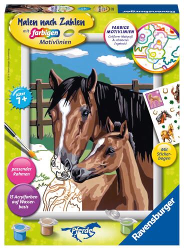 Ravensburger 28326 Malen nach Zahlen Pferd mit Fohlen