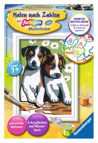 Ravensburger 296811 Malen nach Zahlen: Süße Welpen