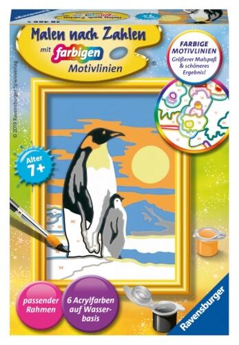 Ravensburger 284665 Malen Nach Zahlen Süße Pinguine Serie F 284665