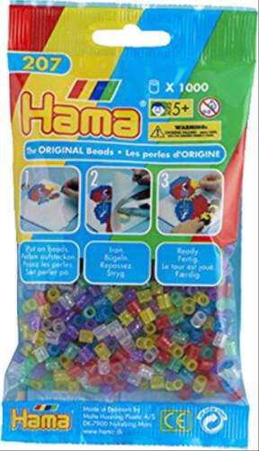 Hama 1000 Perlen weiß transparent 207-19 Basteln & Kreativität