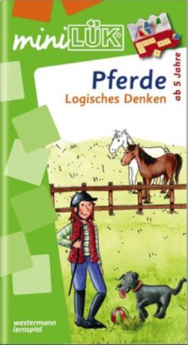 miniLÜK Pferde - Logisches Denken, Lernheft, 25 Seiten, von 5 -7 Jahren