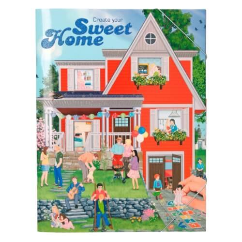 Depesche 5374 Create your Sweet Home - Malbuch mit Stickern