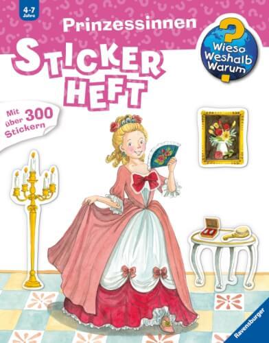 Ravensburger 32680 WiesoWeshalbWarum? Stickerheft: Prinzessinne