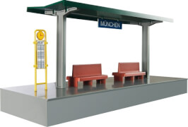 Märklin 72200 H0 Bahnsteig, steckbarer Bausatz (Ergänz