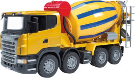 Bruder 03554 Scania R-Serie Betonmisch-LKW, Maße: 57,4 x 18,5 x 27,2 cm, Kunststoff, ab 3 Jahre