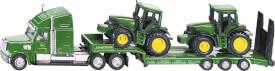 SIKU 1837 FARMER - Tieflader mit John Deere Traktoren, 1:87, ab 3 Jahre