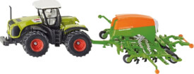 SIKU 1826 FARMER - Traktor mit Sämaschine, 1:87, ab 3 Jahre