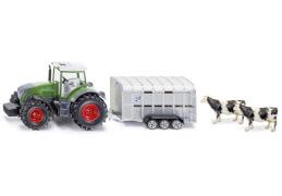 SIKU 1956 FARMER - Traktor mit Viehanhänger, 1:50, ab 3 Jahre