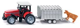 SIKU 1640 Traktor mit Viehanhänger