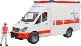 Bruder 02536 MB Sprinter Ambulanz mit Fahrer