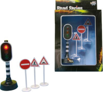 Verkehrsampel mit Verkehrsschildern