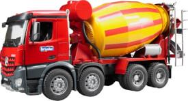 Bruder 03654 MB Arocs Betonmisch-LKW, ab 3 Jahren, Maße: 58,4 x 20,3 x 25,4 cm, Plastik & Kunststoff