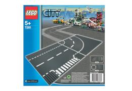 LEGO® City 7281 Kurve / T-Kreuzung,