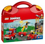 LEGO® Juniors 10740 Löschtrupp-Koffer, 110 Teile, ab 4 Jahre
