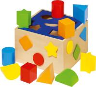 Sortierbox aus Holz, ca. 16x16x10, ab 0 Jahren