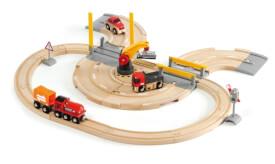 BRIO 63320800 Straßen und Schienen Kran Set