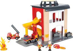BRIO 63383300 Große Feuerwehr-Station + Fahrzeug
