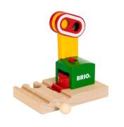 BRIO 33868000 Magnetische Bahn-Ampel, ab 3 Jahren, Holz und Kunststoff