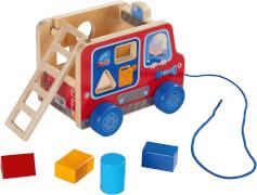 HABA Ziehfigur Feuerwehrauto