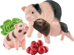 Schleich Farm World - 42422 Mini-Schwein Mutter und Ferkel, ab 3 Jahre