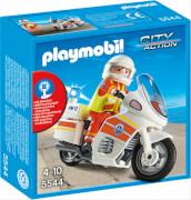 PLAYMOBIL 5544 Notarzt-Motorrad mit Blinklicht